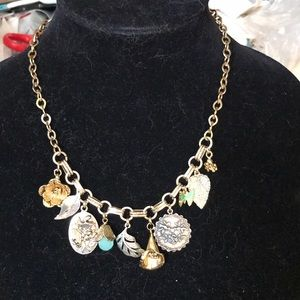Gold chain with charms necklace